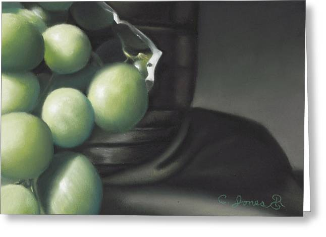 Grape Pastels Greeting Cards - Grapes #2 Greeting Card by Charles T Jones