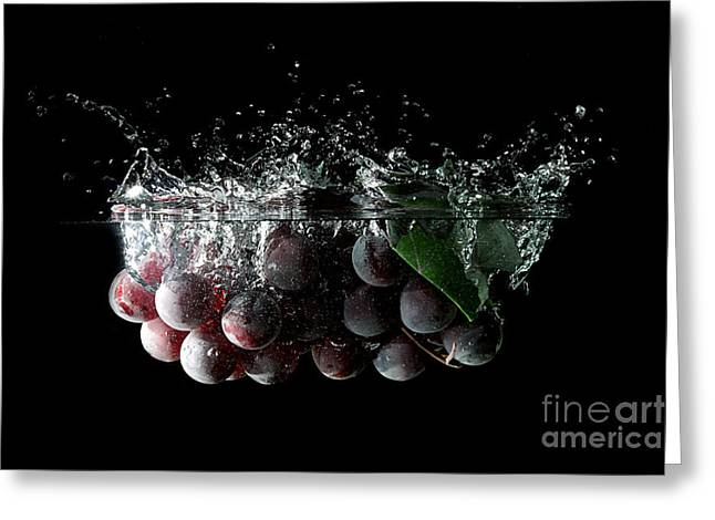 Wine Reflection Art Photographs Greeting Cards - Grapes Greeting Card by Andreas Berheide