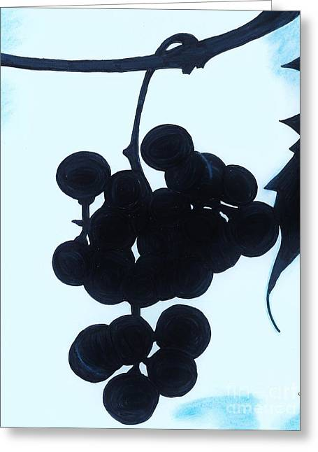 Grape Vine Drawings Greeting Cards - Grapes Greeting Card by D Hackett