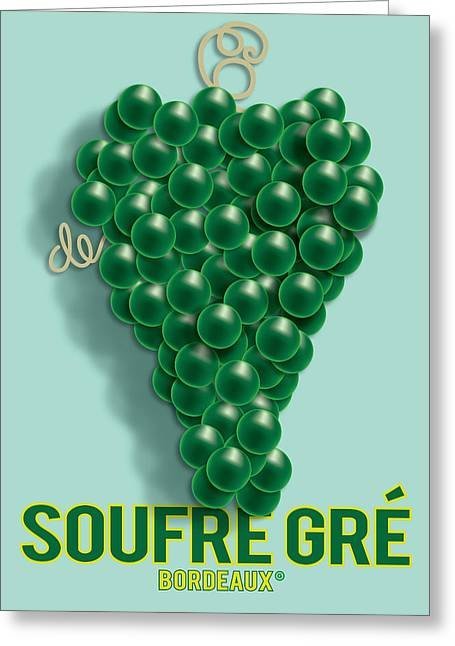 Vector Posters Greeting Cards - Grapes Greeting Card by Gary Grayson