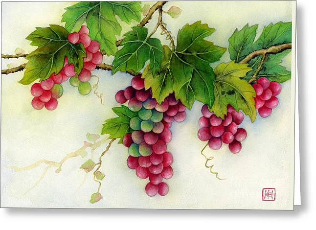 Grapes Greeting Card by Hailey E Herrera