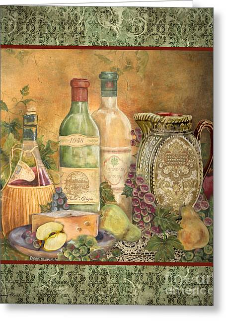 Grape Leaves Greeting Cards - Grapes of Tuscany Greeting Card by Jean Plout