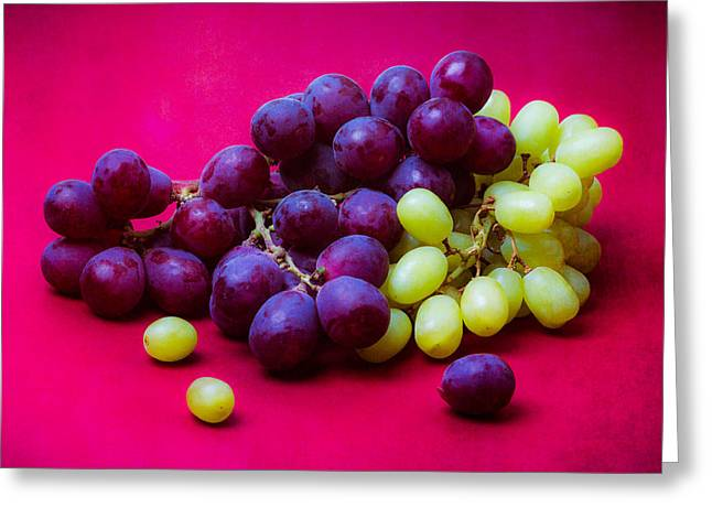 Grapes White And Red Greeting Card by Alexander Senin