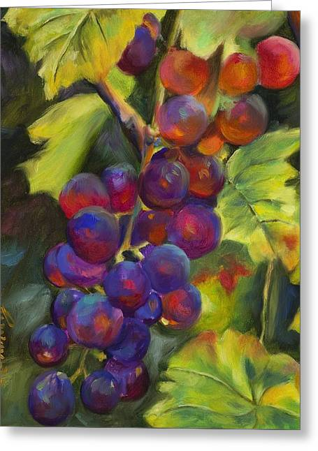 Grape Vineyard Greeting Cards - Grapevine Greeting Card by Chris Brandley