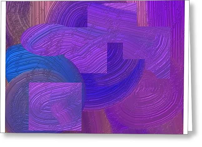 Geometric Design Greeting Cards - Graphic 5   digital painting Greeting Card by Lawrence Nusbaum
