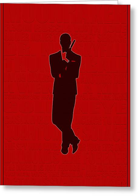 Secret Agent Greeting Cards - Graphic Bond 3 Greeting Card by Andrew Fare