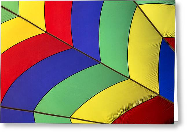 Nylons Greeting Cards - Graphic hot air balloon detail Greeting Card by Garry Gay