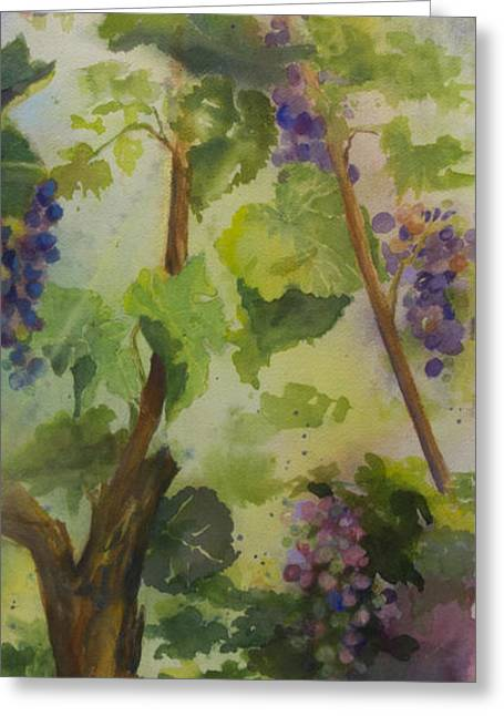 Cabernet Greeting Cards - Baby Cabernets III Greeting Card by Maria Hunt