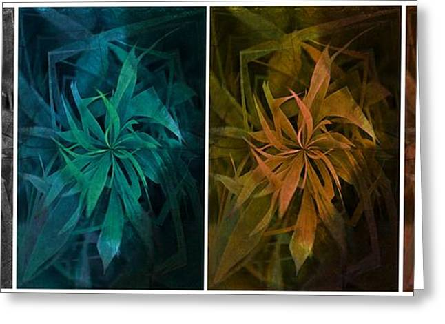 Botanical Greeting Cards - Elements of Nature - Air Water Earth Fire Greeting Card by Marianna Mills
