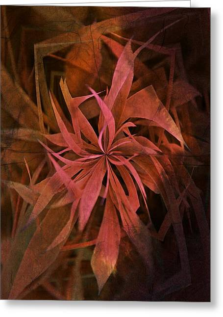 Visionaries Designs Greeting Cards - Grass Abstract - Fire Greeting Card by Marianna Mills