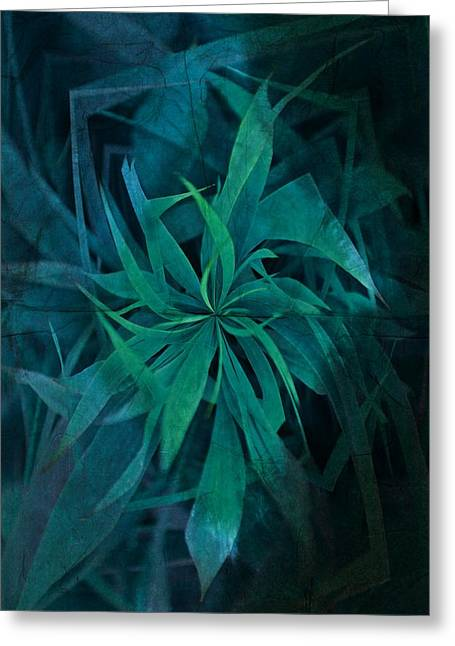 Visionaries Designs Greeting Cards - Grass Abstract - Water Greeting Card by Marianna Mills