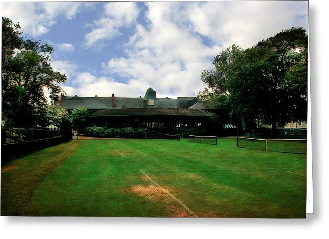 Tennis Club Greeting Cards - Grass Courts at the Hall of Fame Greeting Card by Michelle Calkins