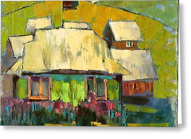 Grass in the yard Greeting Card by Anastasija Kraineva
