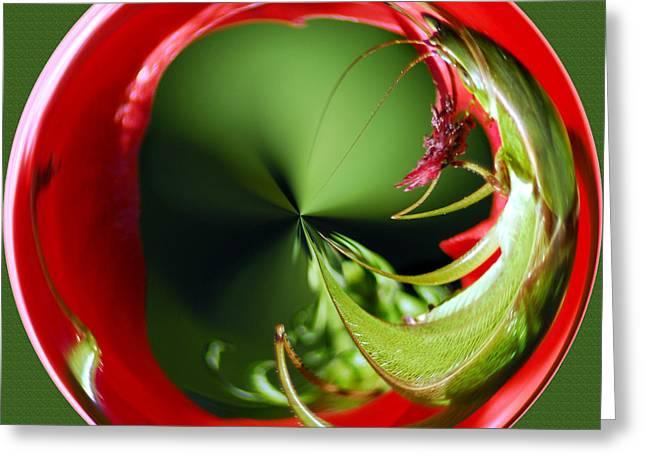 Fractal Orbs Digital Greeting Cards - Grasshopper Orb II Greeting Card by Jeff McJunkin