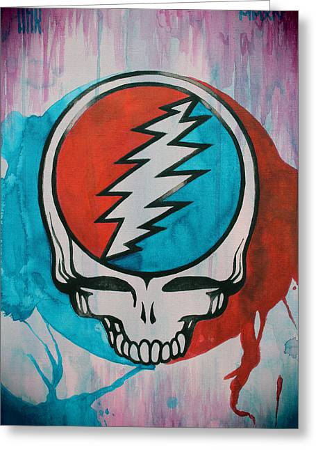 Rhythm Greeting Cards - Grateful Dead Portrait Greeting Card by Dan Haraga