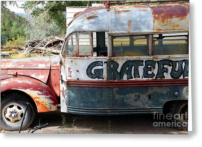 Graffiti Photographs Greeting Cards - Grateful Greeting Card by Sophie Vigneault