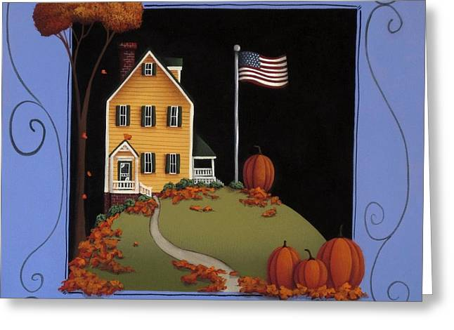 Thanksgiving Art Greeting Cards - Gratitude Greeting Card by Catherine Holman