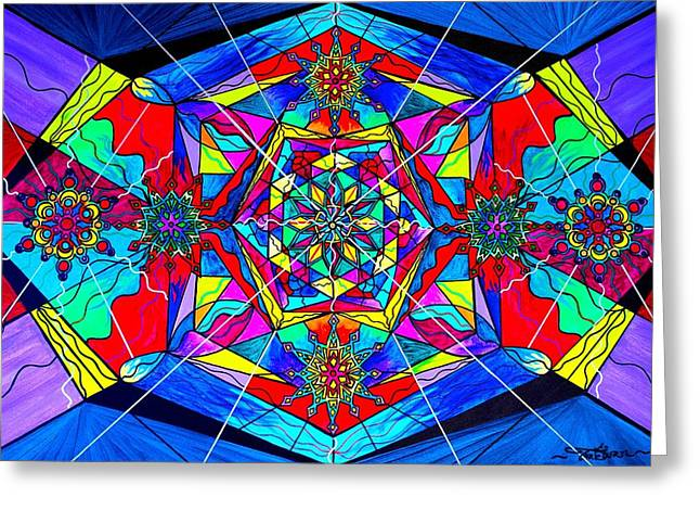 Geometric Art Greeting Cards - Gratitude Greeting Card by Teal Eye  Print Store