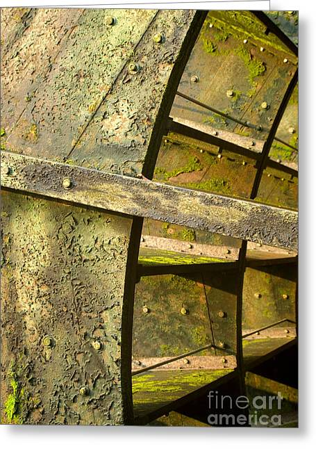 Slavery Digital Art Greeting Cards - Graue Mill algae covered water wheel close up Greeting Card by Glenn Morimoto