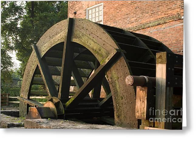 Slavery Digital Greeting Cards - Graue Mill water wheel Greeting Card by Glenn Morimoto