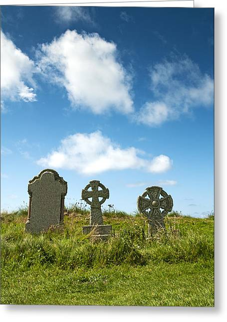 Place Of Burial Greeting Cards - Grave Cross Greeting Card by Chevy Fleet