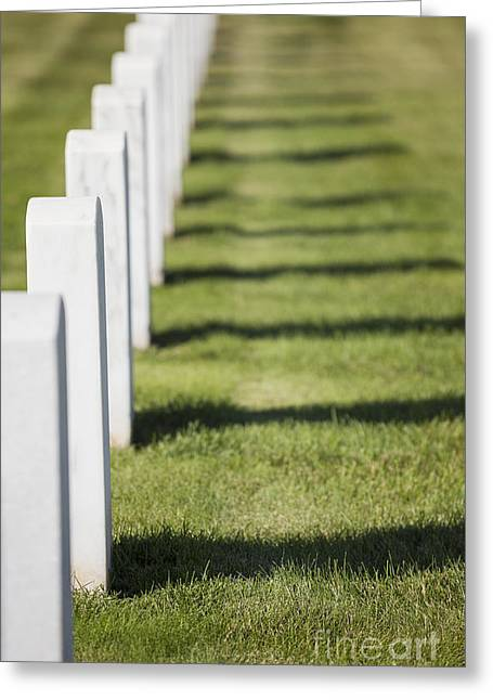 Final Resting Place Greeting Cards - Grave Markers Greeting Card by Bryan Mullennix Photography
