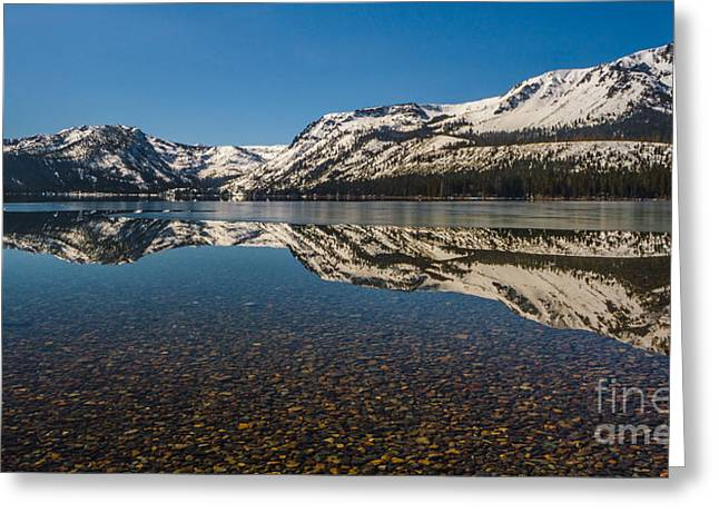 Snow-covered Landscape Greeting Cards - Gravel Bottom Greeting Card by Mitch Shindelbower