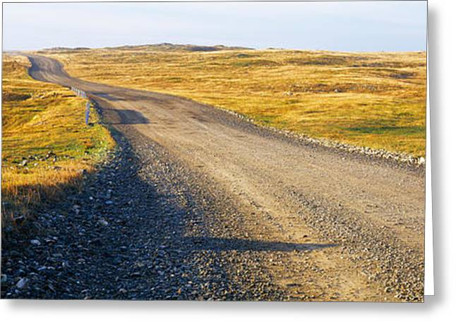 Gravel Road Passing Greeting Card by Panoramic Images