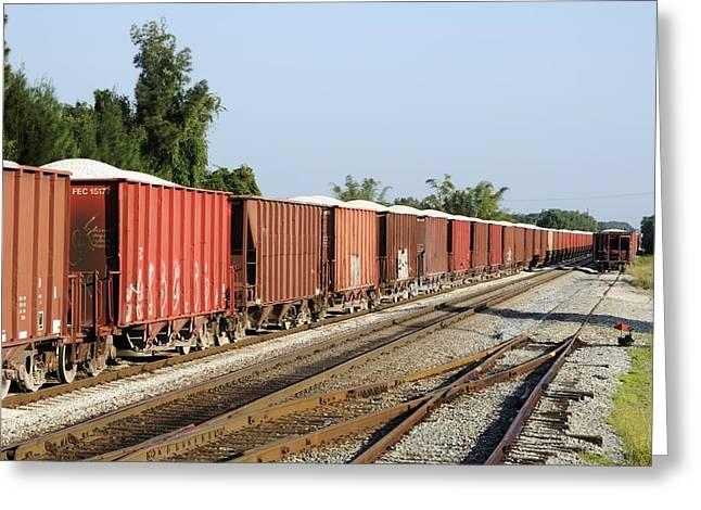 Fec Greeting Cards - Gravel train on side Greeting Card by Bradford Martin