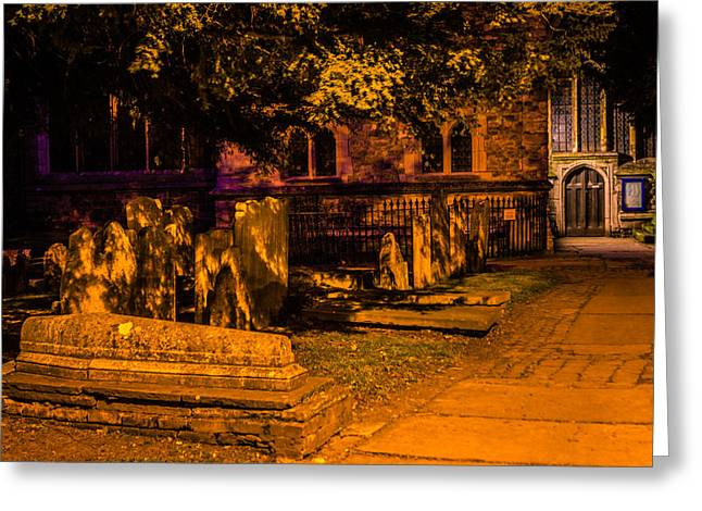 Kent Photography Greeting Cards - Graveyard at Night Greeting Card by Dawn OConnor