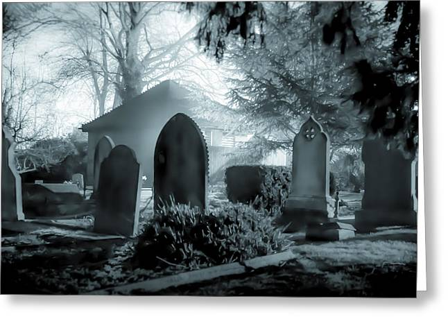 Cemetery Greeting Cards - Graveyard Blues. Greeting Card by Ian Hufton