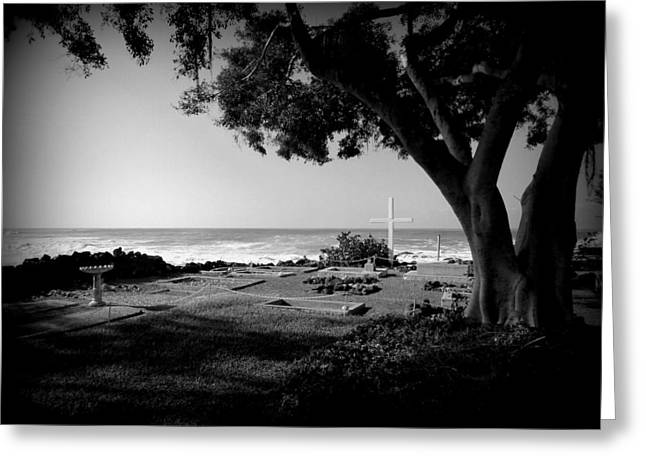 Grave Yard Greeting Cards - Graveyard By The Sea Greeting Card by Lori Seaman