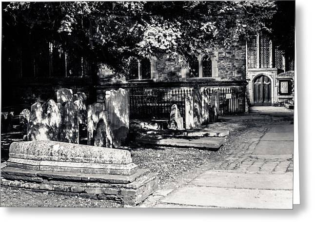 Kent Photography Greeting Cards - Graveyard Greeting Card by Dawn OConnor