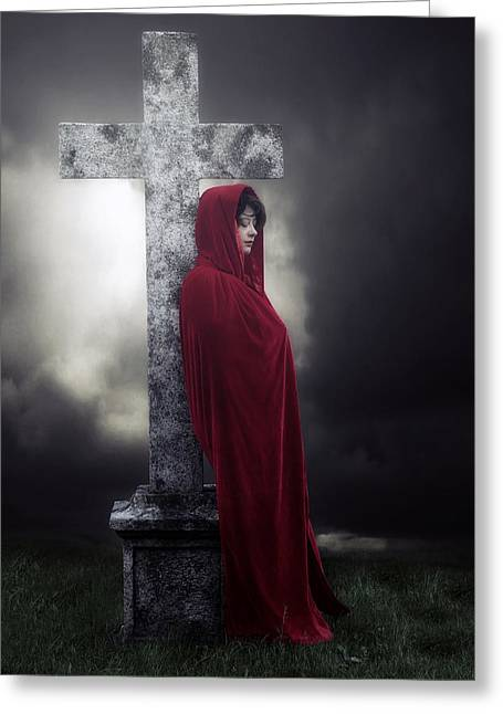 Haze Photographs Greeting Cards - Graveyard Greeting Card by Joana Kruse