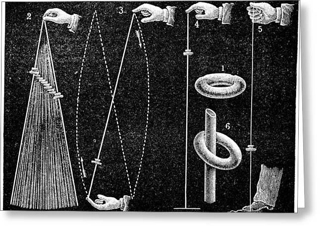 La Science Illustree Greeting Cards - Gravity demonstrations, 1893 Greeting Card by Science Photo Library
