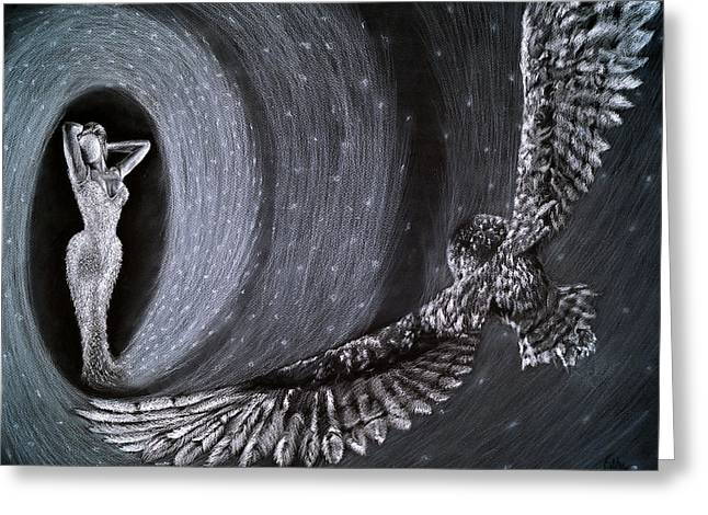 Eagle Pastels Greeting Cards - Gravity Greeting Card by Fithi Abraham