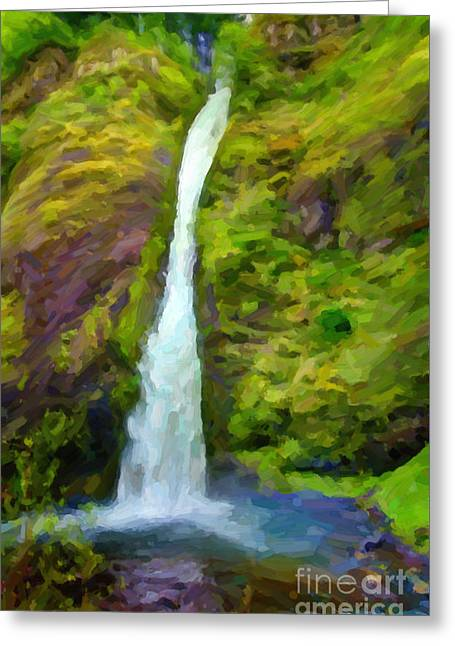 Oregon Greeting Cards - Gravity Greeting Card by Jon Burch Photography