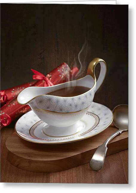 Sauce Greeting Cards - Gravy Greeting Card by Amanda And Christopher Elwell