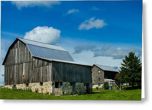 Old Country Roads Greeting Cards - Gray Barn Greeting Card by Bill Gallagher