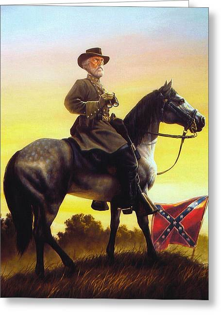 Confederate Flag Greeting Cards - Gray Fox Greeting Card by Dan Nance