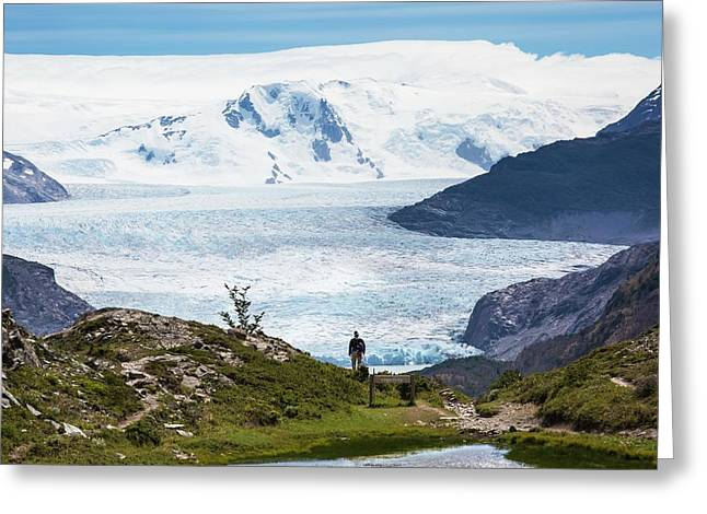 Gray Glacier Greeting Card by Peter J. Raymond