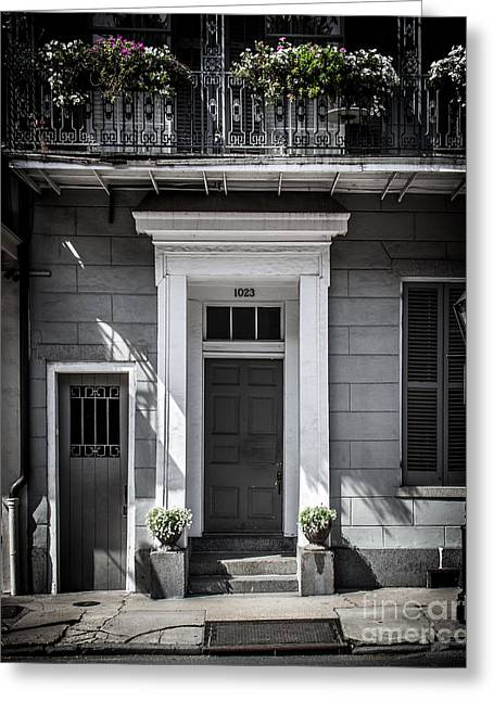Historical Pictures Digital Art Greeting Cards - Gray House Greeting Card by Perry Webster