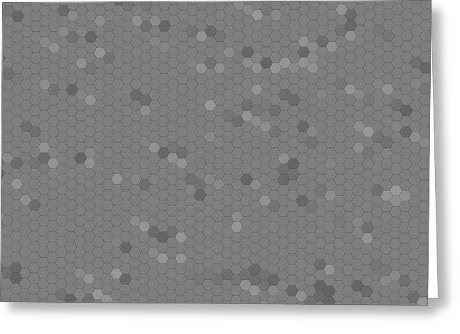 Metallic Sheets Digital Greeting Cards - Gray Mosaic Greeting Card by Henrik Lehnerer