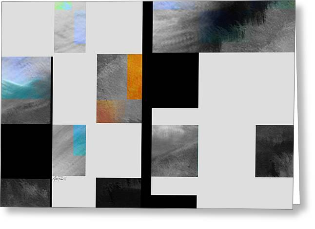 Large Blocks Of Color Greeting Cards - Gray Series Four abstract art Greeting Card by Ann Powell