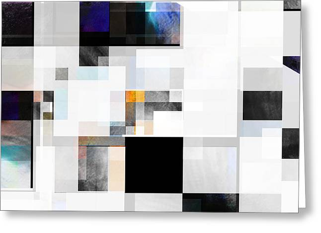 Large Blocks Of Color Greeting Cards - Gray Series One abstract- art Greeting Card by Ann Powell