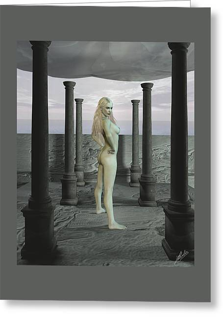 Prettiness Greeting Cards - Gray terrace Greeting Card by Joaquin Abella