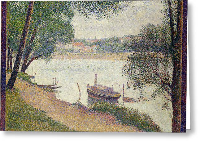 Grande Jatte Greeting Cards - Gray Weather. Grande Jatte Greeting Card by Georges Seurat