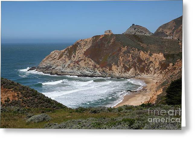 Half Moon Bay Greeting Cards - Gray Whale Cove State Beach Montara California 5D22618 Greeting Card by Wingsdomain Art and Photography