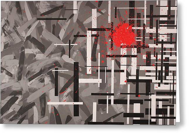 Bloodshed Greeting Cards - Grays and the bloodshed of structure  Greeting Card by David Mayeau