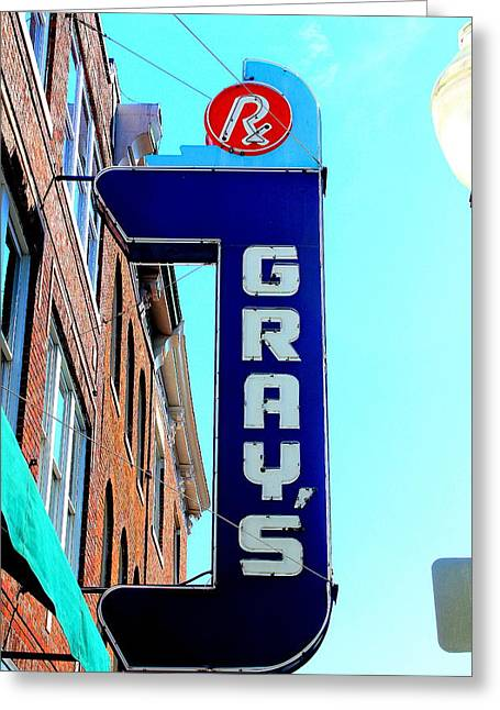 Historic Franklin Tennessee Greeting Cards - Grays Rx Greeting Card by Anthony Jones